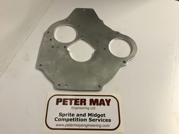 MG Midget and Austin Healey Sprite alloy engine backplate