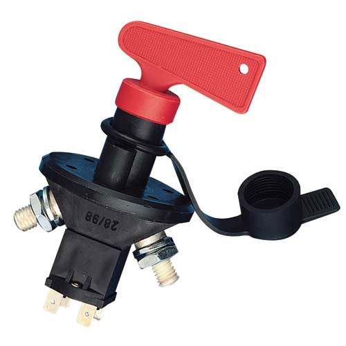 Protected battery master switch