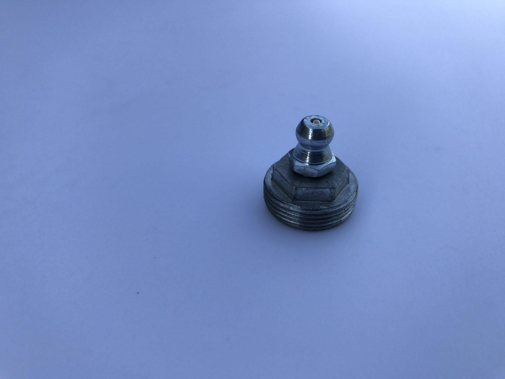 MG Midget and Austin Healey Sprite front wishbone grease nipple and plug