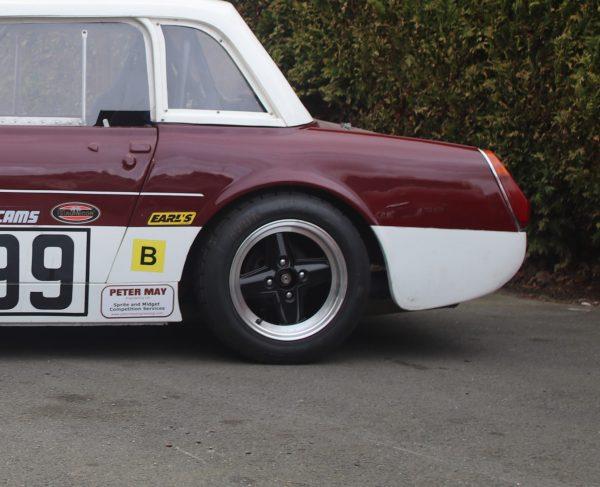 MG Midget and Austin Healey Sprite rear round wheel arch fibreglass wing