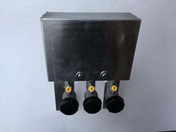 Outer Box cover for triple cylinder pedal box kit (shown attached to kit).
