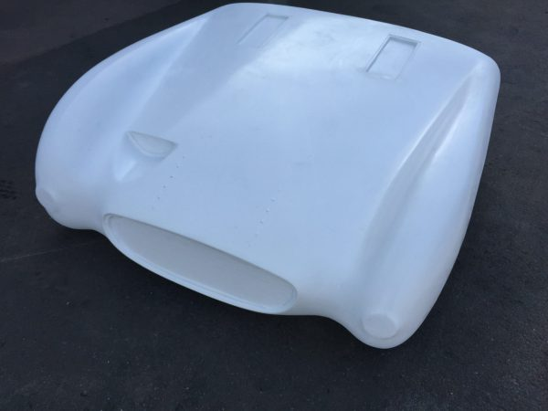 The PME Frogeye Special one piece front offers a more aerodynamic version of the standard MK1 Frogeye sprite bonnet.