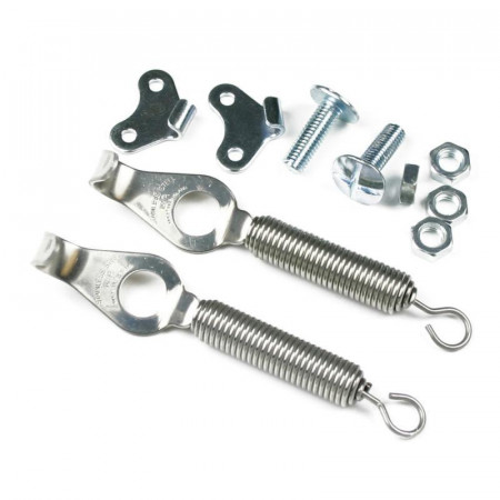 Spring style bonnet fasteners