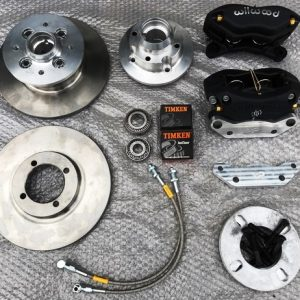 "MG Midget and Austin Healey Sprite 9"" front brake conversion kit with alloy hubs"